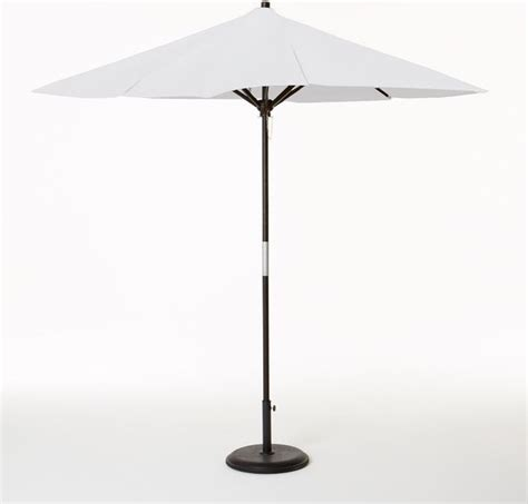 White Patio Umbrella Wooden Umbrella White Modern Outdoor Umbrellas By West Elm