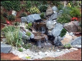 Stone Waterfalls Backyard Disappearing Pondless Waterfall Ideas Northern New