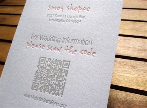 Wedding Invitation Qr Code improving wedding invitations with qr codes qfuse