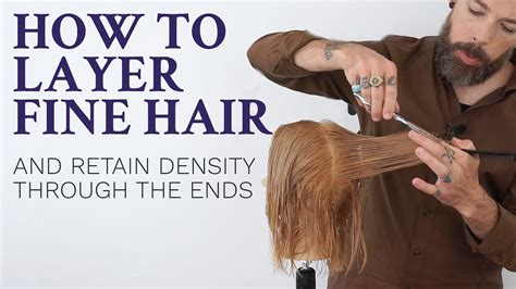 how to cut nem fine thin hair wirh clippers how to layer fine hair tutorial for hairdressers youtube