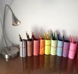 Diy Craft Desk Diy Pencil Crayon Holder From Recycled Toilet Paper Rolls