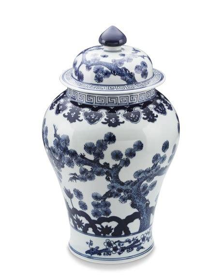 blue ginger jar ls blue white swallowtail ginger jar williams sonoma
