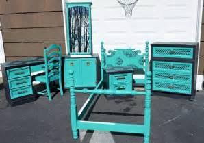 turquoise bedroom set bedroom set in turquoise and black preslee