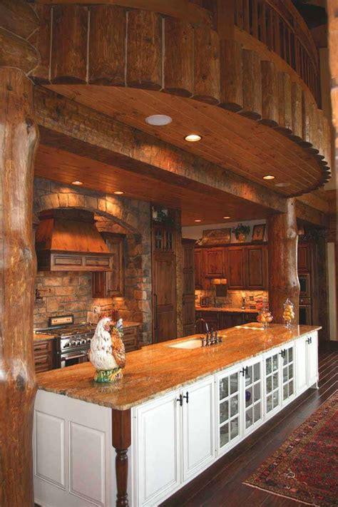 images    log home kitchen  pinterest