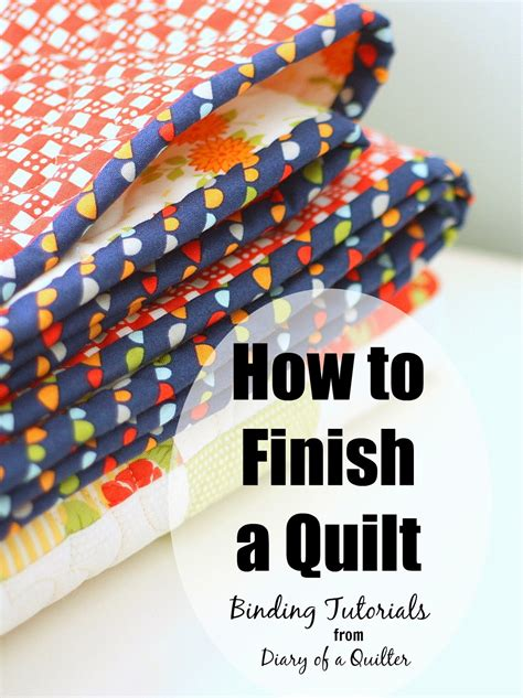 How To Put Binding On Quilt by How To Finish And Bind A Quilt Diary Of A Quilter A Quilt