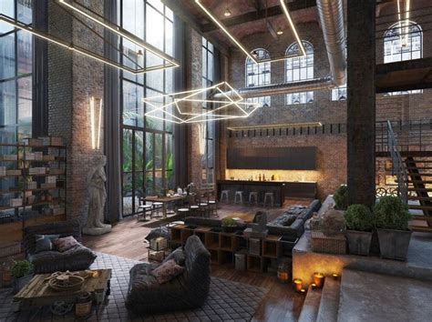 industrial style loft best 25 loft living rooms ideas on industrial