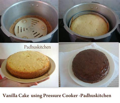 vanilla cake recipe pressure cooker vanilla cake recipe padhuskitchen