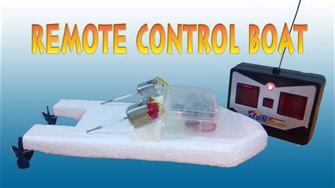 how to make a boat model how to make boat remote control two motors youtube