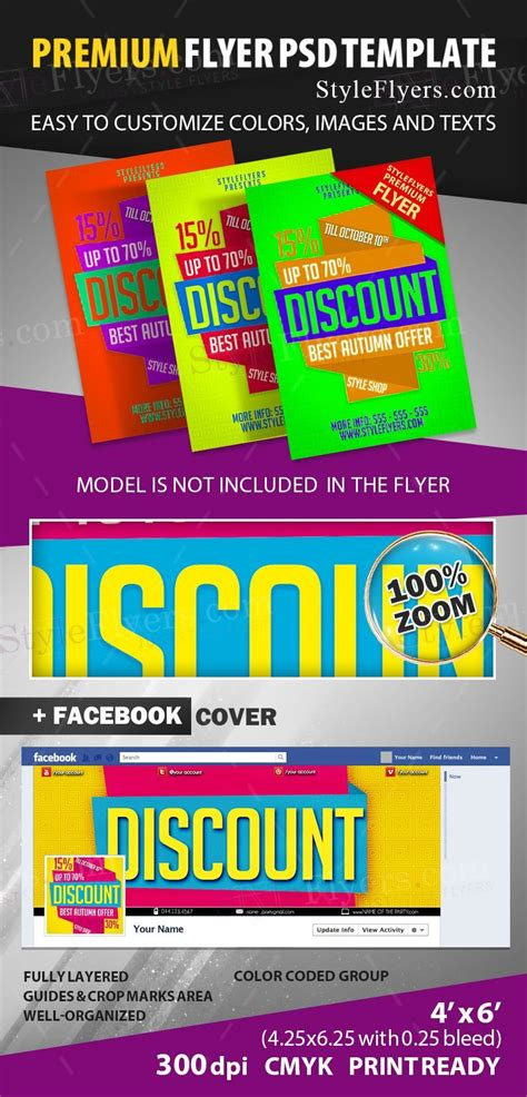 discount flyer template discount psd flyer template 12239 styleflyers