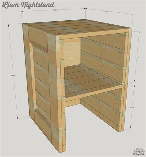 plans diy rustic nightstand