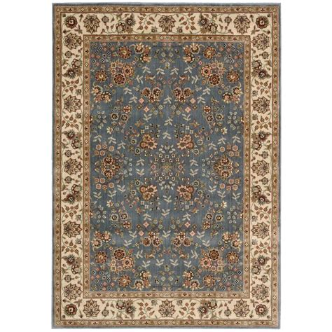 Area Rugs 5 X 6 Nourison Arts Light Blue 3 Ft 6 In X 5 Ft 6 In Area Rug 697905 The Home Depot