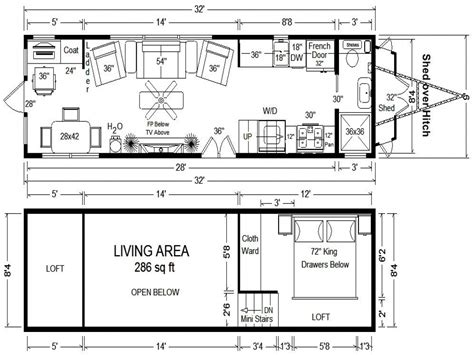 micro homes floor plans tiny houses on wheels floor plans tumbleweed tiny house