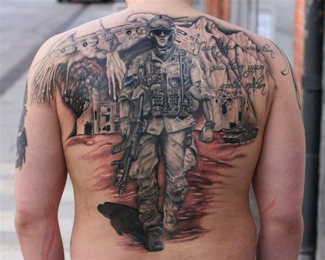 tattooed soldier soldier on back