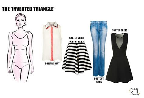 what inverted triangles shouldnt wear rfa beauty how to dress your body shape