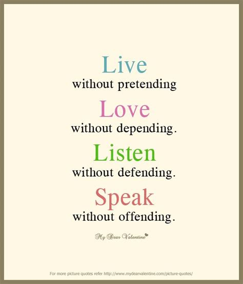 Living Without A by Live Without Pretending Sayings Poems