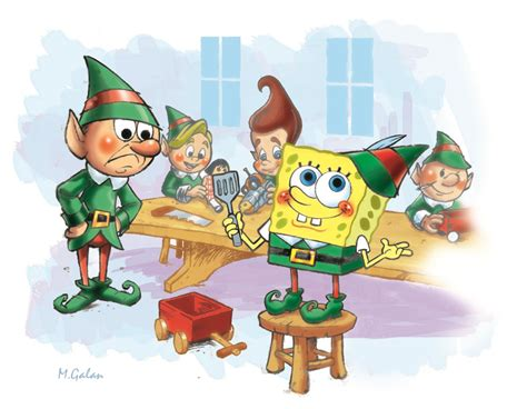 Spongebob At The Christmas Party - frederator studios blogs bronk amp bongo 2006 september