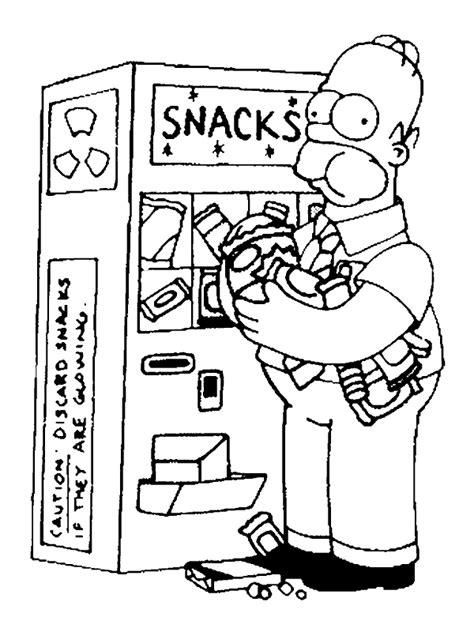 LAMINAS PARA COLOREAR - COLORING PAGES: Homero Simpson