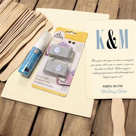 Wedding Program Fan Kits At Craftysticks Com Custom
