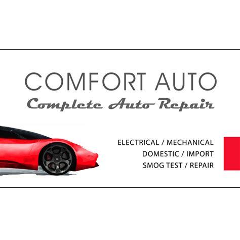 comfort auto comfort auto business card design by arpidesign com