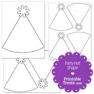 Birthday Cone Hat Template by Printable Hat Shape Template Printable Treats