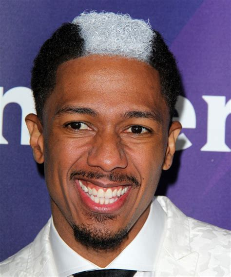 Nick Cannon Short Curly Casual Hairstyle   Black