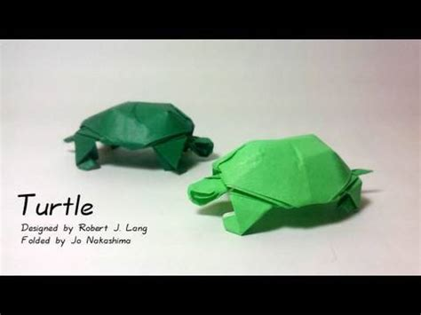 How To Make Paper Tortoise - origami turtle robert j lang