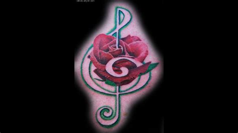 treble clef rose tattoo treble clef by joshing88 on deviantart picture