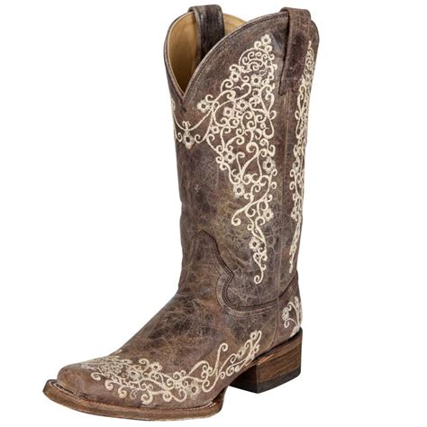 shop s corral brown crater bone embroidery boots