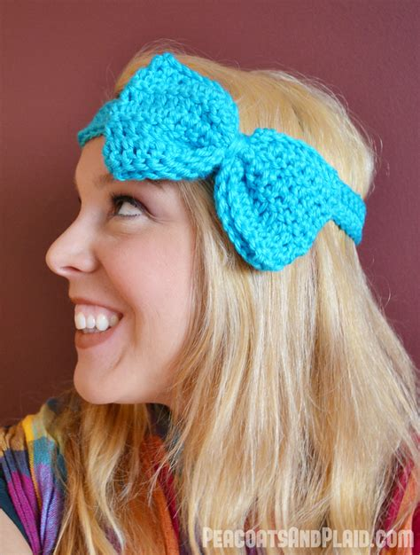 Headband Bow pattern crochet bow headband bre pea the creative