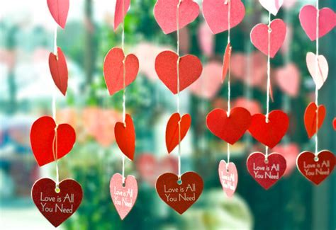 heart decorations for the home paper heart garland valentine s day diy evermine blog