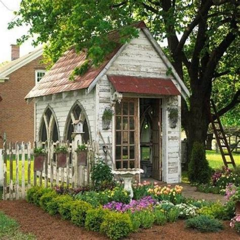 Garden Shed Decor Ideas How To Decorating Garden Shed Garden Envy Pinterest