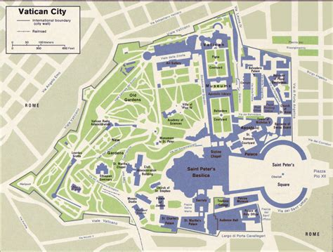 map of the city of map of vatican city state within the city of rome