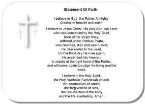 Personal Belief Essay by Personal Statement Of Faith
