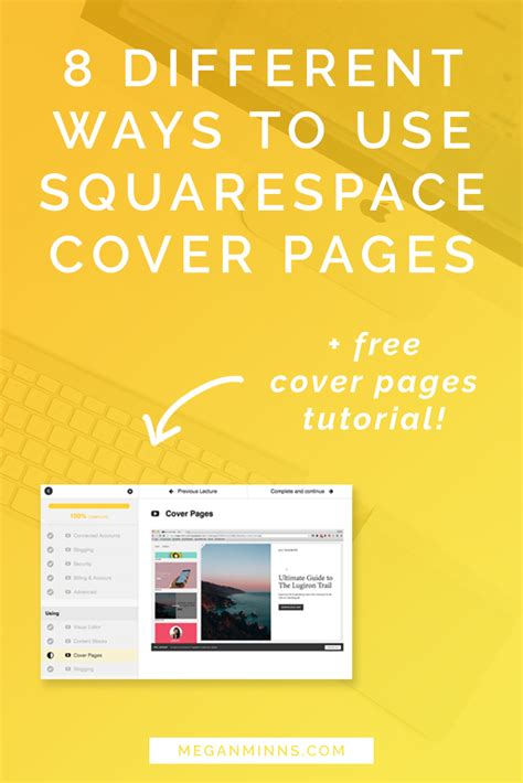 squarespace different templates for different pages 8 different ways to use squarespace cover pages plus a