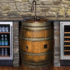 bar sinks for sale reclaimed wine barrel bar sink wine enthusiast
