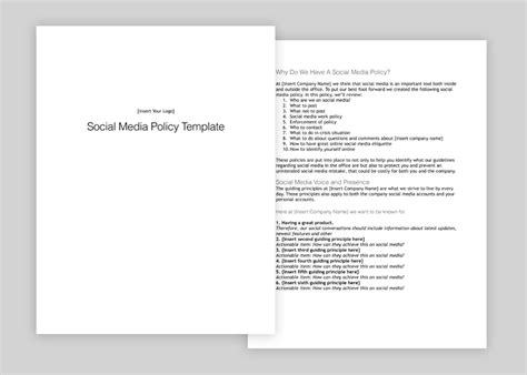 Social Media Policy How To Make Yours Thorough To Avoid Emergencies Social Media Policy Template For Enforcement