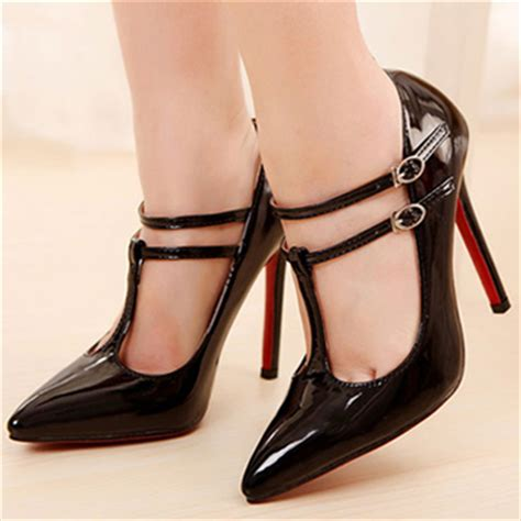 Heels T In Black By fashion pointed closed toe stiletto high heels black pu t