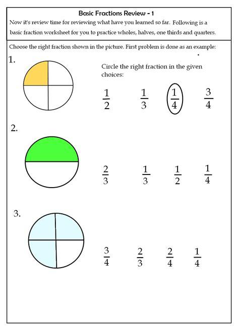 reading fractions worksheet basic fractions worksheets steemit