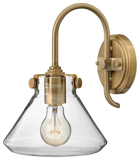 Williams Light Fixtures Hinkley 1 Light Brass Wall Light Modern Wall Sconces Other Metro By Williams Lighting