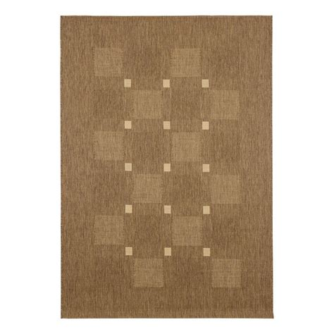 flatwoven rug carpet flatwoven rug squared checkered andria brown beige