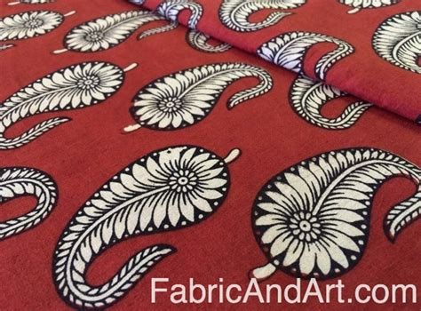 Floral Prints by Block Printed Fabrics From India Indian Cotton Block