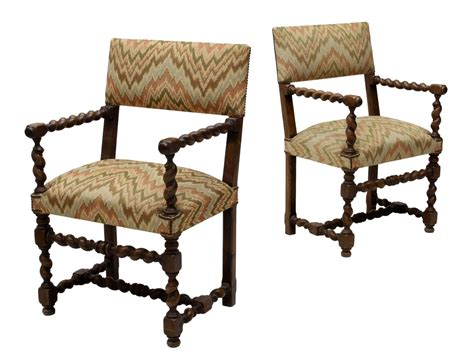 Barley Twist Chair by 2 Barley Twist Arm Chairs Important Two Day Auction