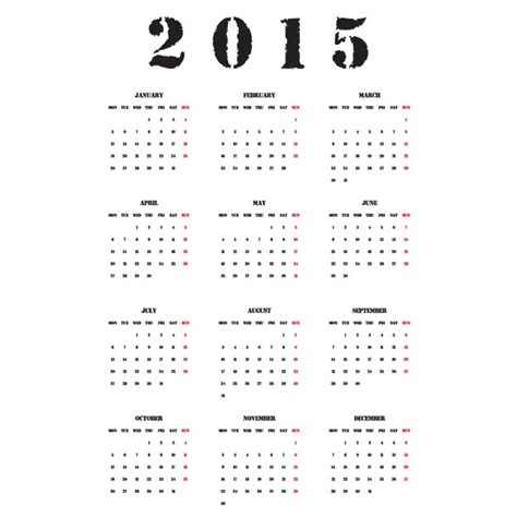 Calendar 2015 Year Best Photos Of 2015 Yearly Calendar Template Printable