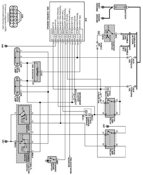repair guides lighting system 2002 daytime running