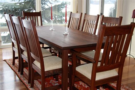craftsman dining room table craftsman dining set in walnut branch hill joinery