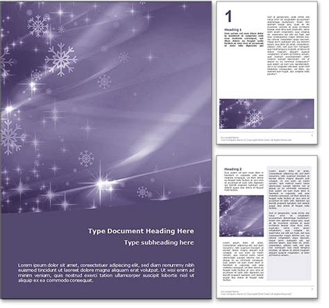 Royalty Free Merry Christmas Microsoft Word Template In Purple Merry Template Word