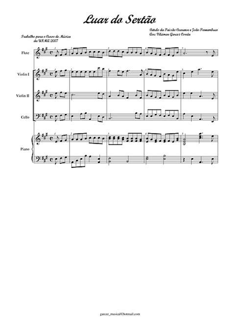 Luar do Sertao Flauta, Violino, Violoncelo, Piano