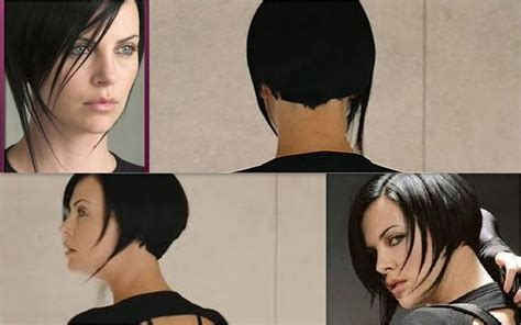 aeon flux black s hairstyle aeon flux charlize theron haircut femme fatale pinterest