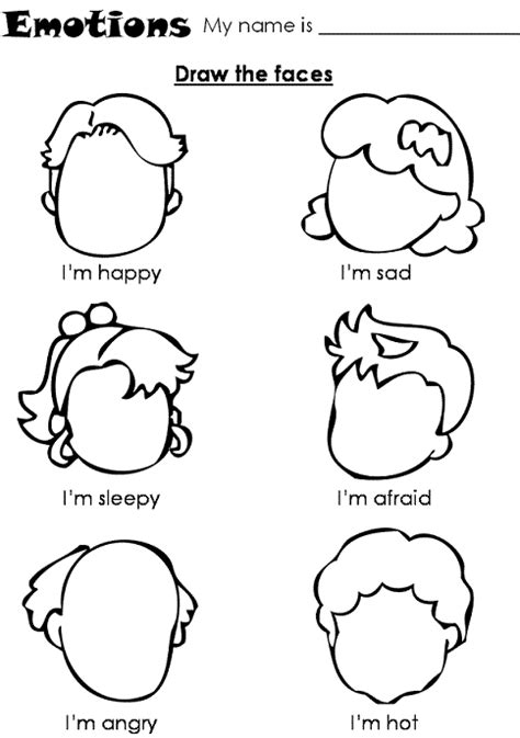 preschool printable worksheets emotions kindergarten holding hands and sticking together