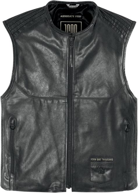 motorcycle riding vest leather icon 1000 associate leather motorcycle vest